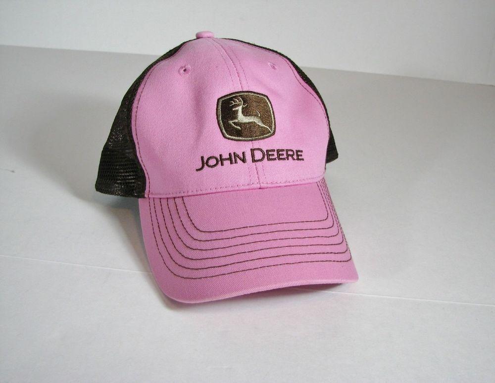b52283f01ca John Deere Pink Brown Women Trucker Hat Snapback  JohnDeere  Trucker Pink  Brown