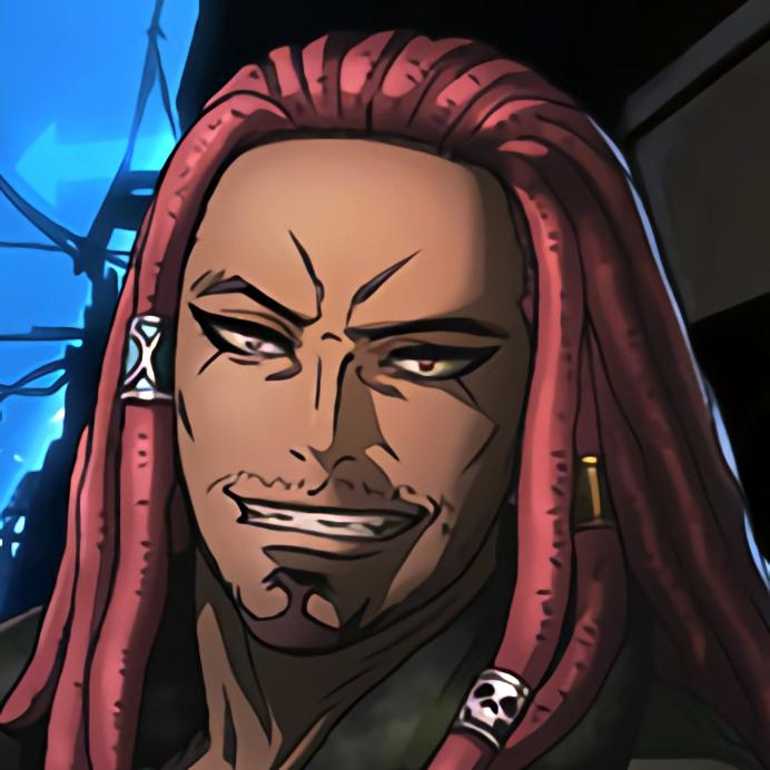 The BRAWLER (Akudama Drive) Anime Wink Icon black anime