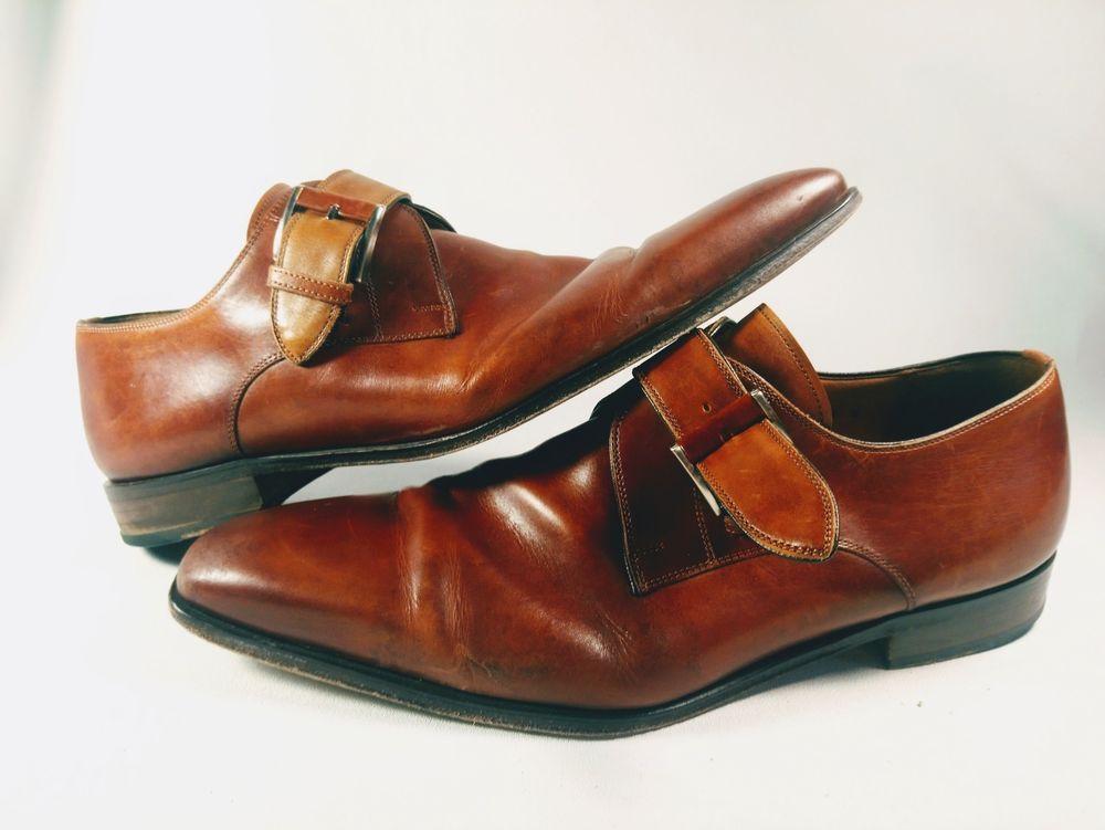 5c5911d6ced Magnanni Neiman Marcus Marco Monk Strap Designer Dress Shoes size ...