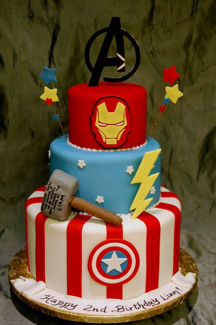 Phenomenal Avengers Birthday Cake Flickr Photo Sharing Bolo Dos Funny Birthday Cards Online Alyptdamsfinfo