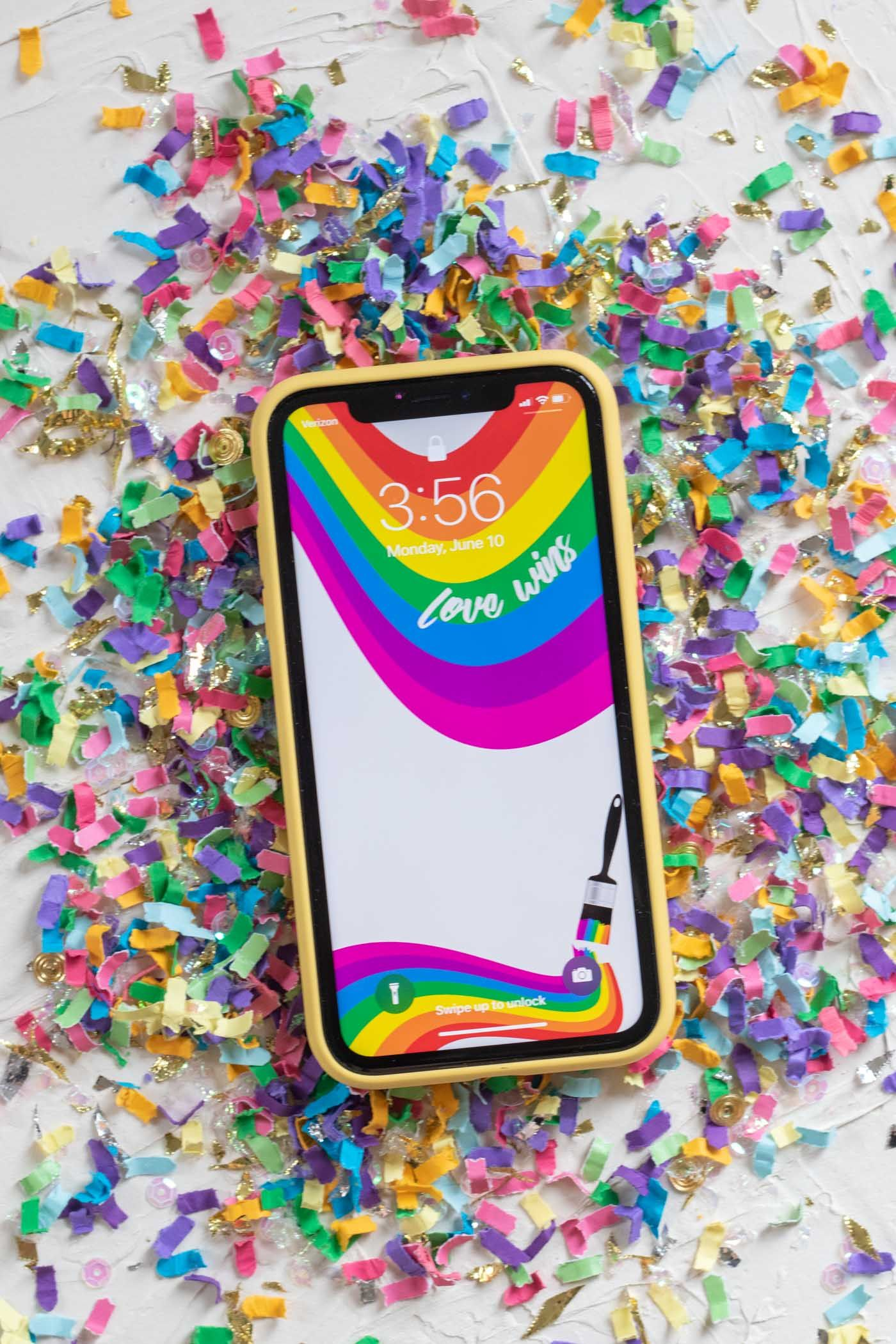 3 Free PRIDE Phone Wallpapers for Pride Month Rainbow
