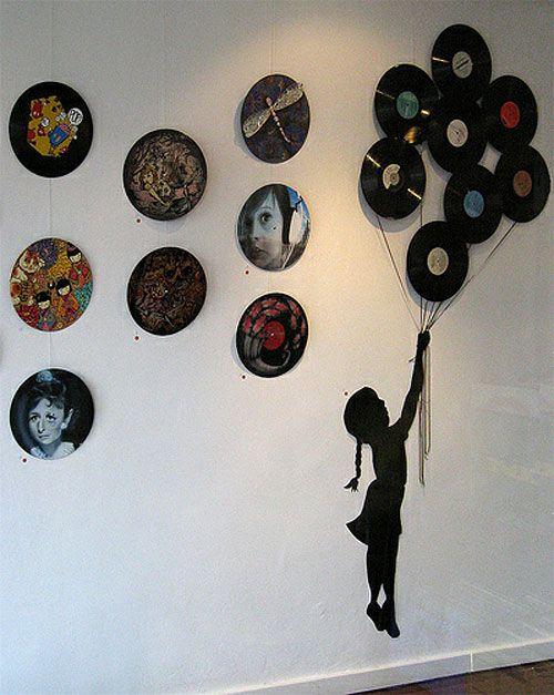 Records basteln pinterest schallplatten deko und projekte - Schallplatten wand ...