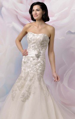 Beaded Mermaid Gown by Anjolique Bridal 564