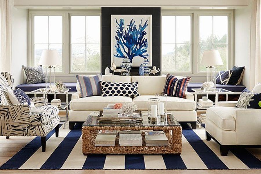 Nautical Nest Travelshopa Coastal Style Living Room Living Room Decor Inspiration Coastal Decorating Living Room
