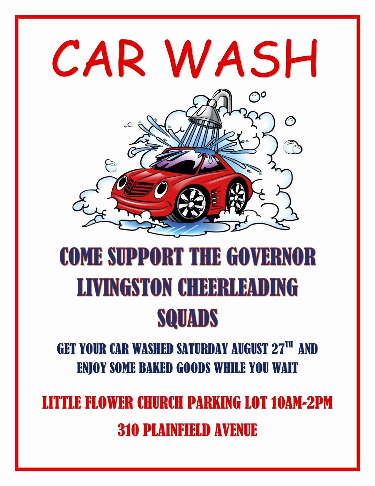 Car Wash Fundraiser Flyers Inspirational Gov Livingston
