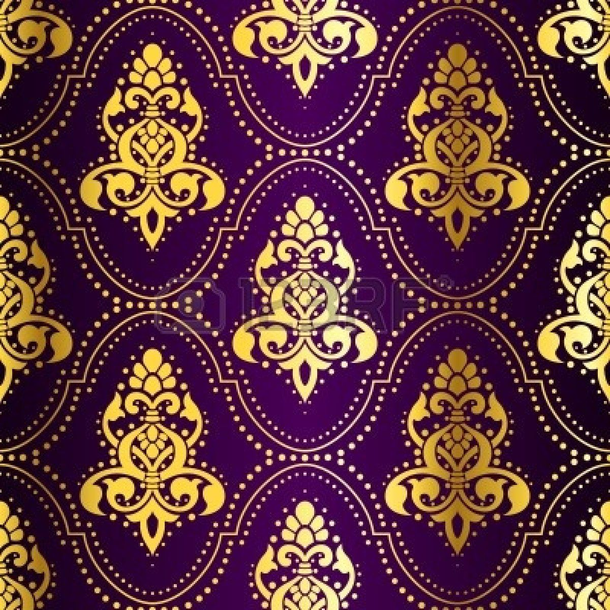 Indian Saree Gold On Purple Seamless Pattern With Dots The Tiles