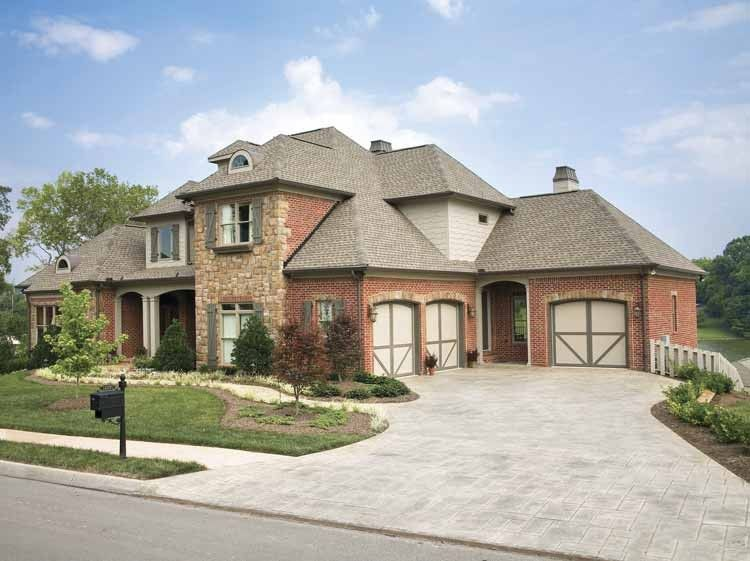 new american house plan with 3482 square feet and 5 5 bedroom 3 car garage floor plans