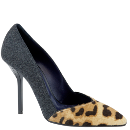 #Vionnet leopard print pumps with grey felt. From autumn winter 2014. www.wunderl.com