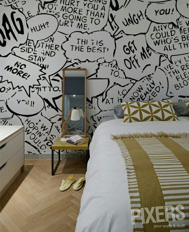 Wandbilder Wandgestaltung Tapeten Raum Comic Zimmer Wandmalereien Kunstwande Jugendzimmer Dekorative Vinyl Zeichnungen Kunde Hausdekoration