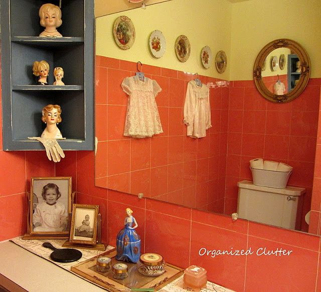 Photo of Vintage Bathroom Vignettes and Reveal