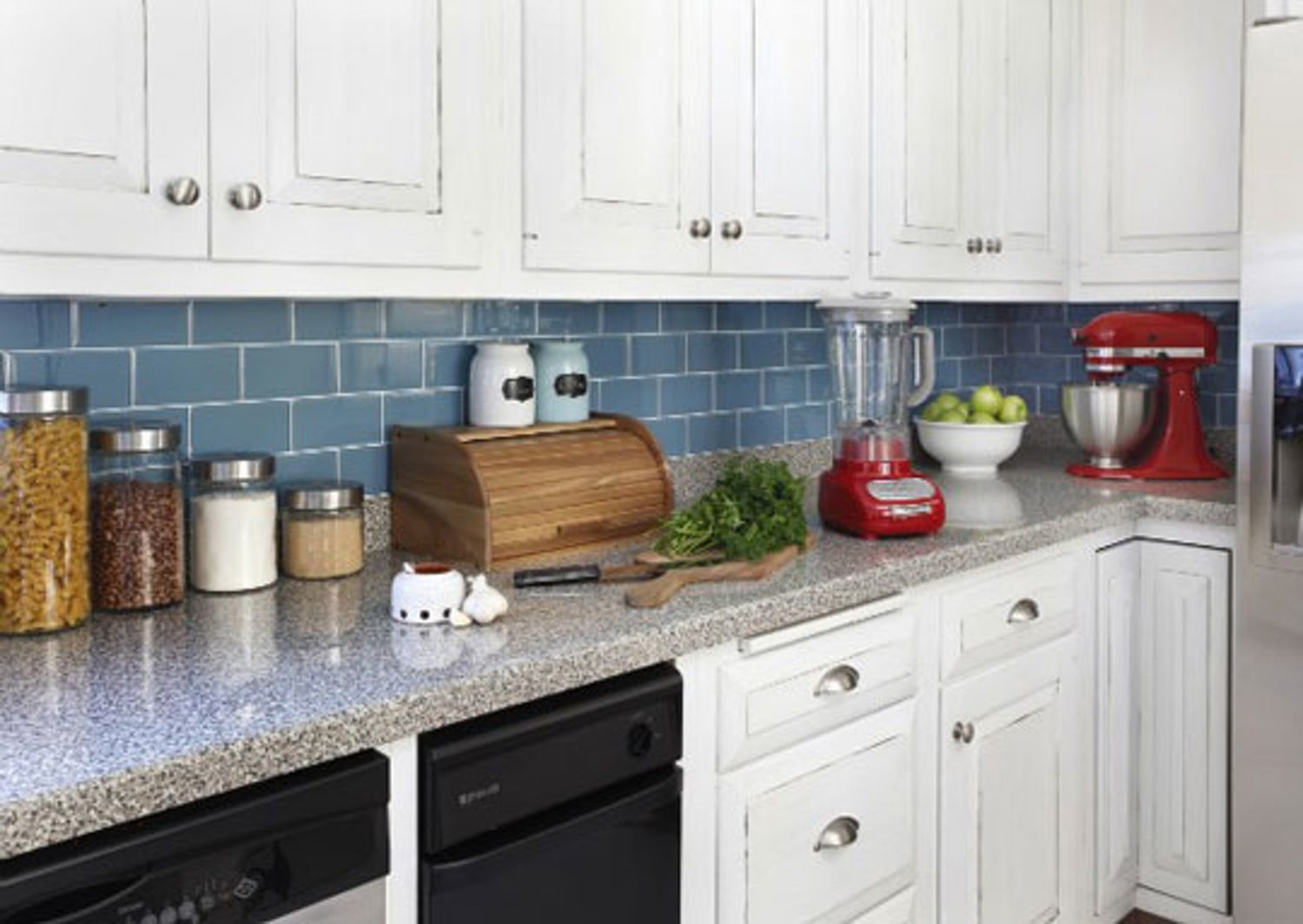 Simple Kitchen Backsplash Tiles renters solutions: install a removable backsplash — four
