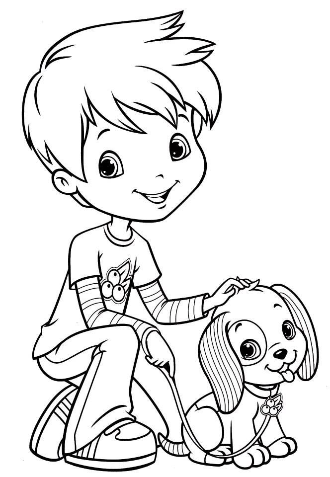 Huckleberry Pie and Tomtom | spalvinimas | Coloring pages ...