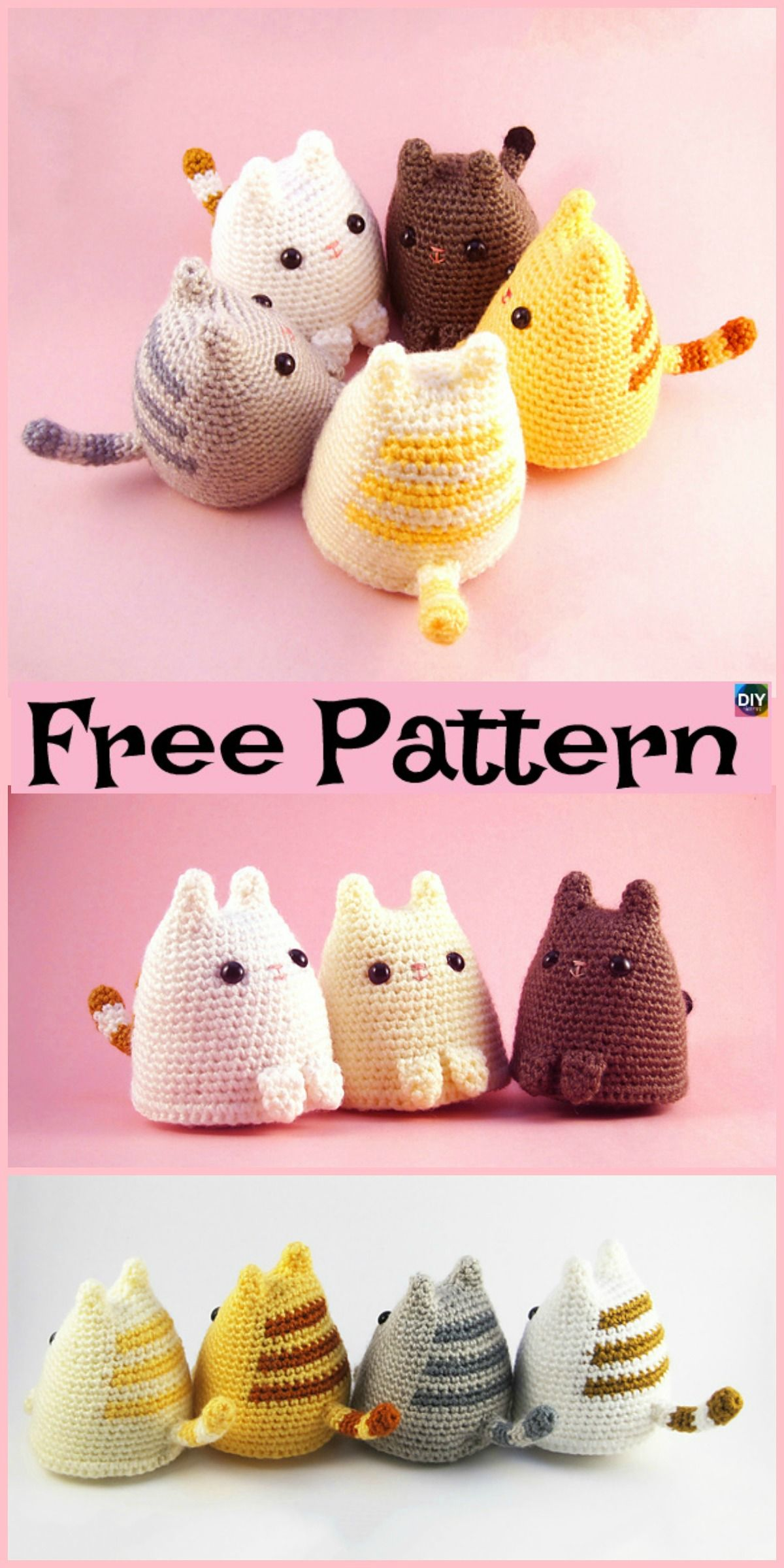 Crochet Dumpling Kitty - Free Pattern #crochetpatterns