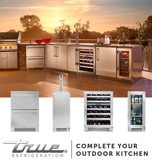 No Outdoor Kitchen Is Complete With Cold Storage Right Next To The Grill Pair The True Products You Outdoor Kitchen Outdoor Kitchen Appliances Kitchen Design