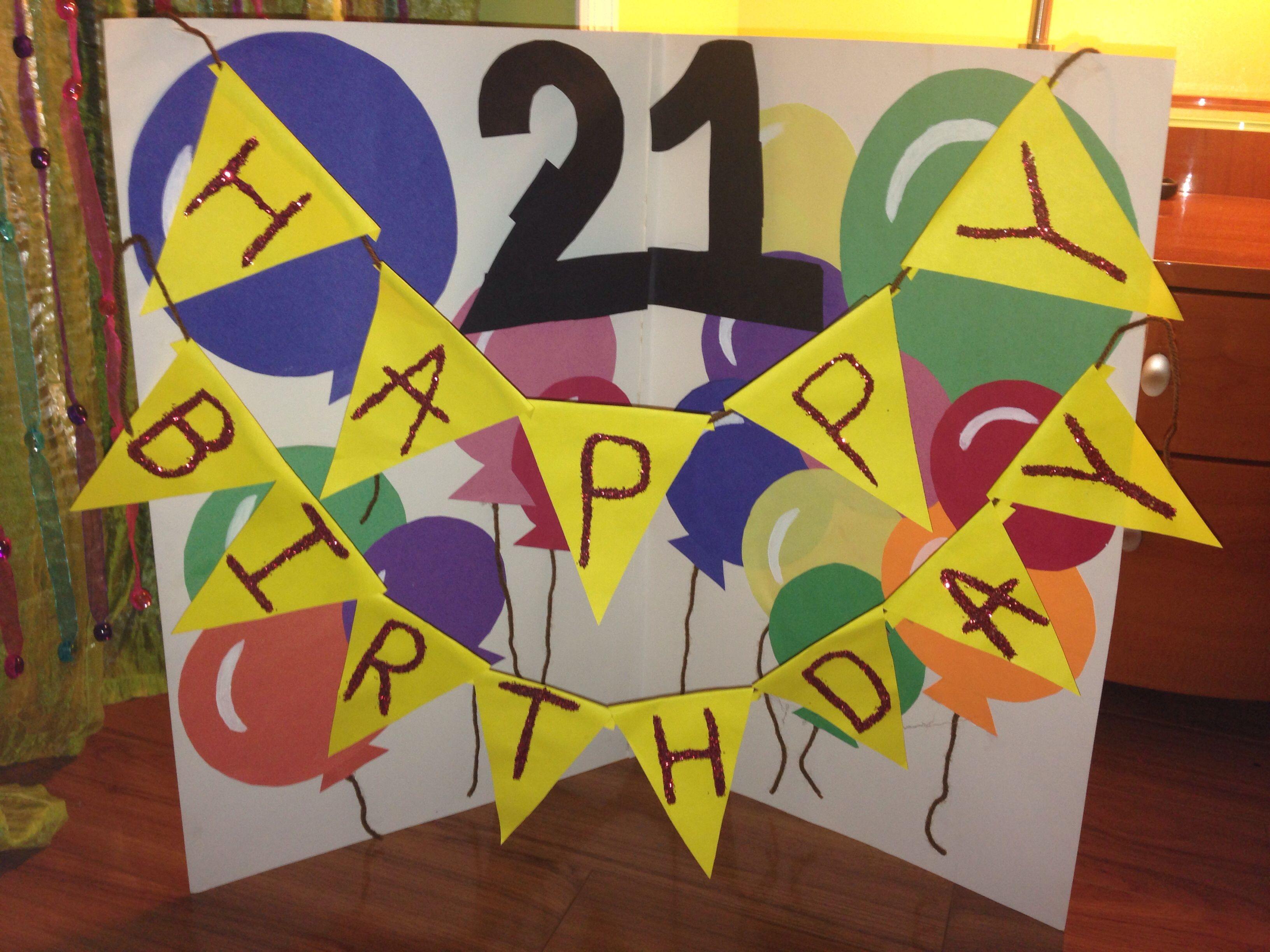 Made This For My Boyfriends 21st Birthday Cute Inexpensive Idea That Is Creative And Loving Giant Card Ha Giant Card 18th Birthday Gifts Cards Handmade