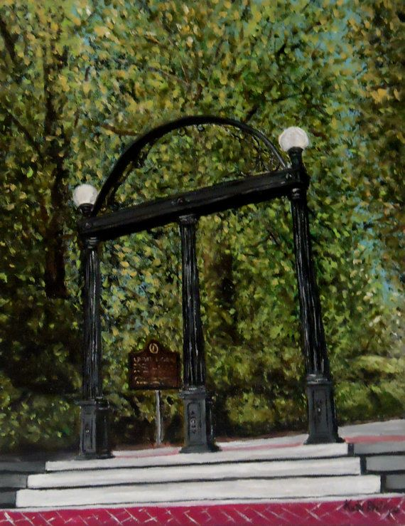 signed digital print the arch of the by katiephillipsart on etsy 15 00 university of georgia arch digital prints pinterest