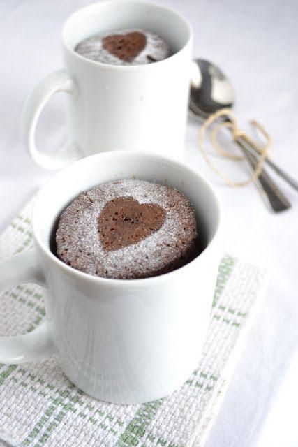 torta de chocolate de taza de espresso microondas