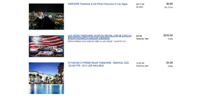 EBay Timeshare for Sale