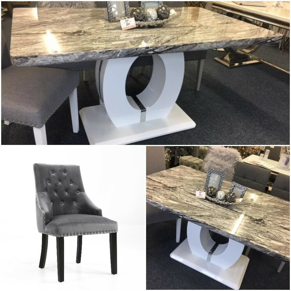 Browse Our Beautiful Marble Effect Marble Table Is A Replication Of The Very Popular Donatella Marbl Faux Marble Dining Table Dining Table Marble Marble Dining