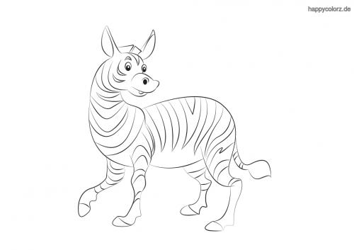 Lachendes Zebra Malvorlage In 2020 Zootiere Giraffe Ausmalbilder Kinder