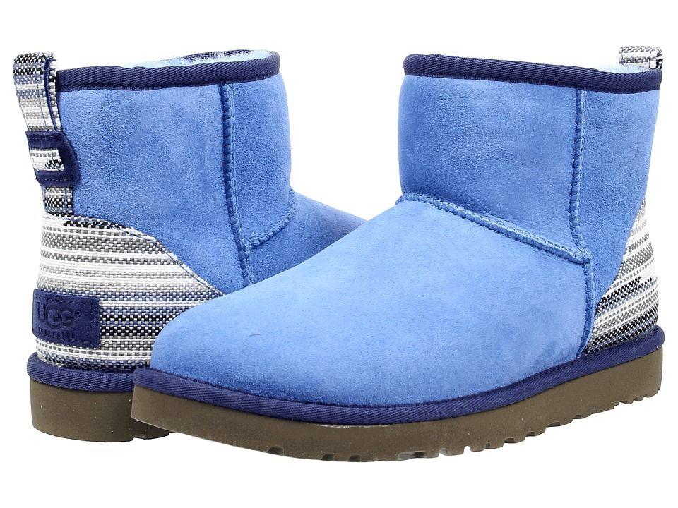Womens Boots UGG Classic Mini Serape Skyline Twinface
