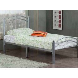 Tuscany 3ft Single Silver Metal Bed Frame