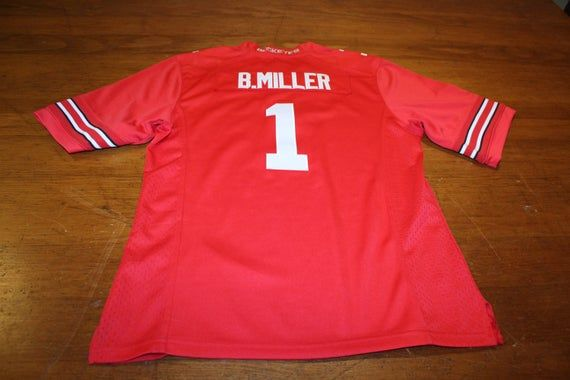 Ohio State Buckeye Nike Red Jersey - #1 Braxton Miller - Large - Stitched