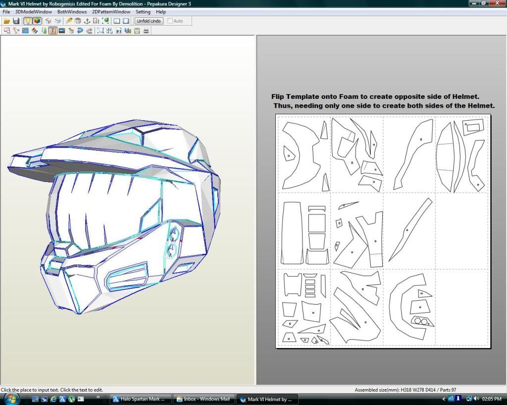 Halo Spartan Mark VI Foam Files : Complete Armour files