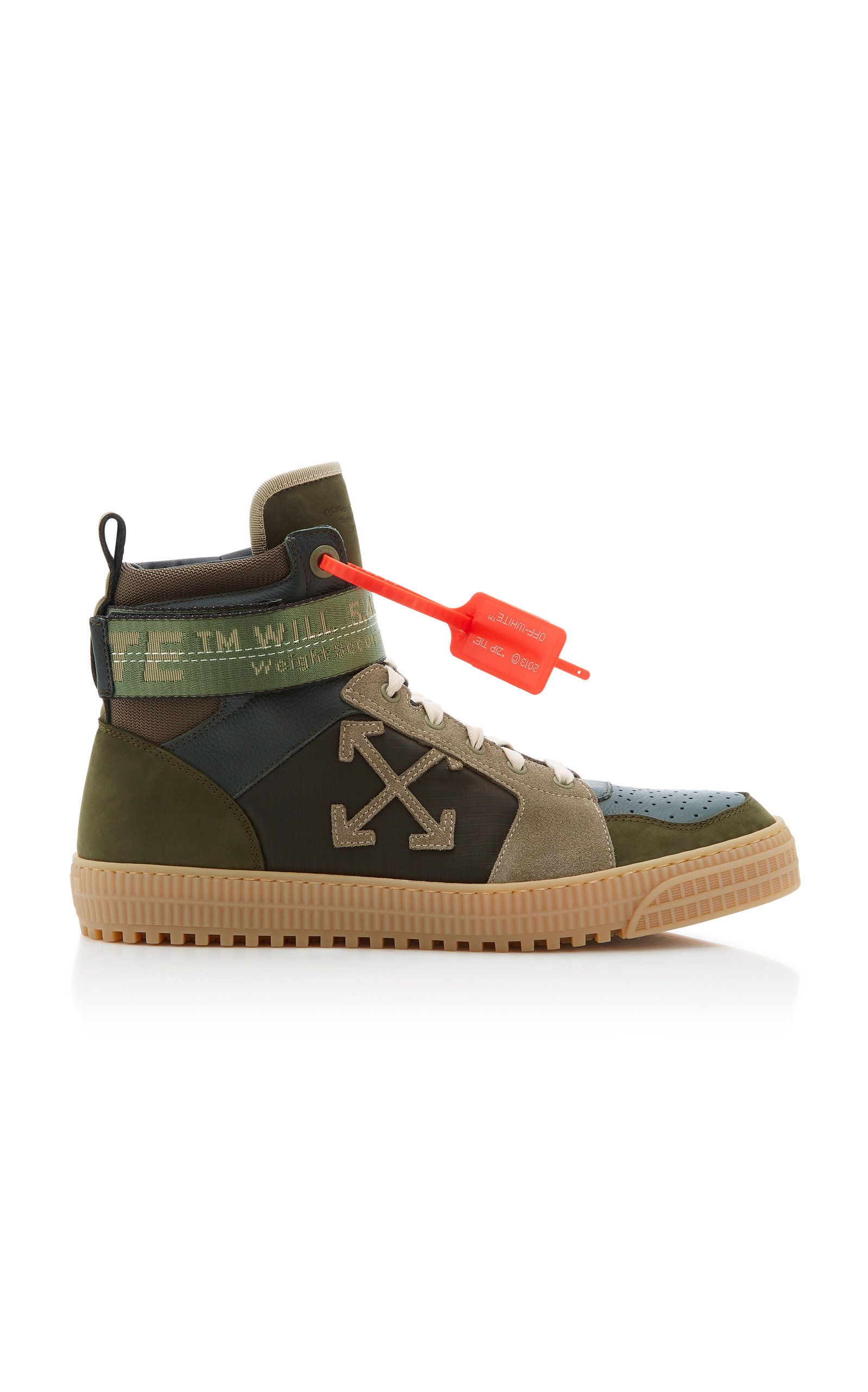 Off-white Industrial Paneled Leather