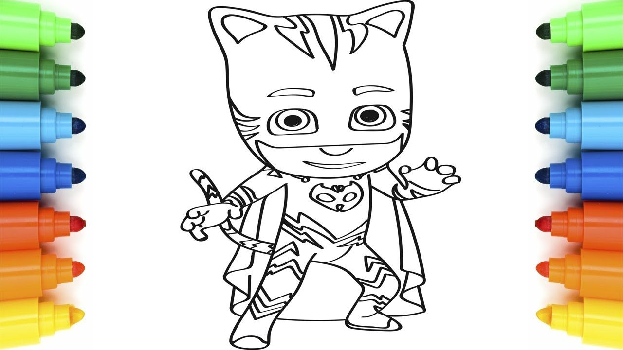 How to Draw PJ Masks Catboy | Coloring Pages for Children ...