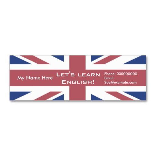 Teaching English Language -- Advertising Cards Business Card
