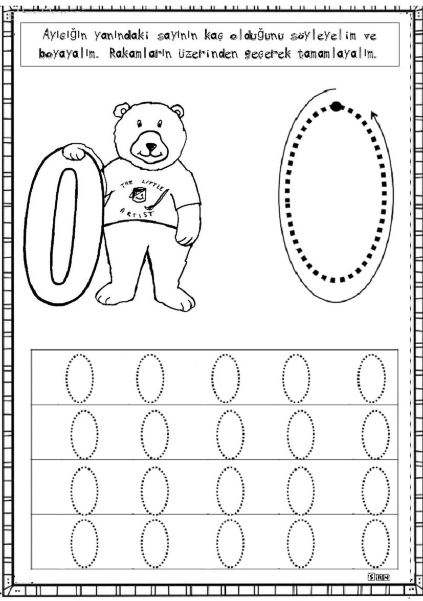0 Rakamı çalışma Sayfalarım Preschool Math Ve Word Search