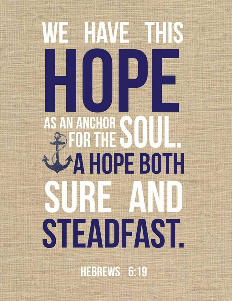 Charming Nautical Bible Verse With My Favorite Word. Hope