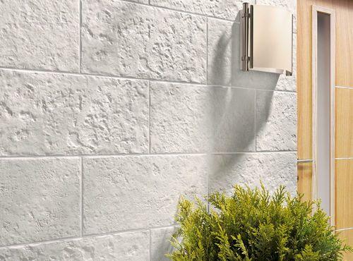 Revestimiento de pared de gres porcel nico texturado for Plaqueta imitacion piedra para exterior