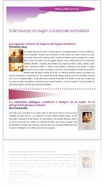 8 de marzo: La mujer a través de la historia, guía de lectura online