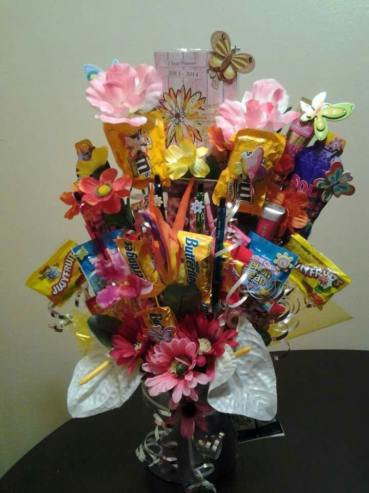 Flower Candy Bouquet | baskets | Pinterest | Candy bouquet and Crafty
