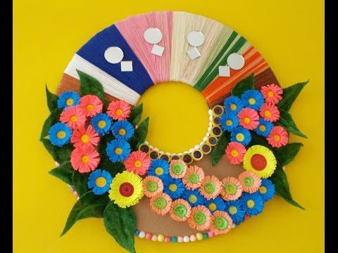 Wall decoration ideas how to make a wall craft using for Best craft ideas using waste