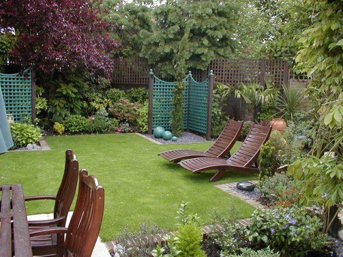 gartenideen für kleine gärten gartenbereiche gartensessel ...