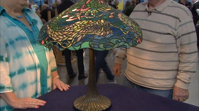 Antiques roadshow video appraisal of the 1906 duffner dragon lamp tiffany type stained leaded