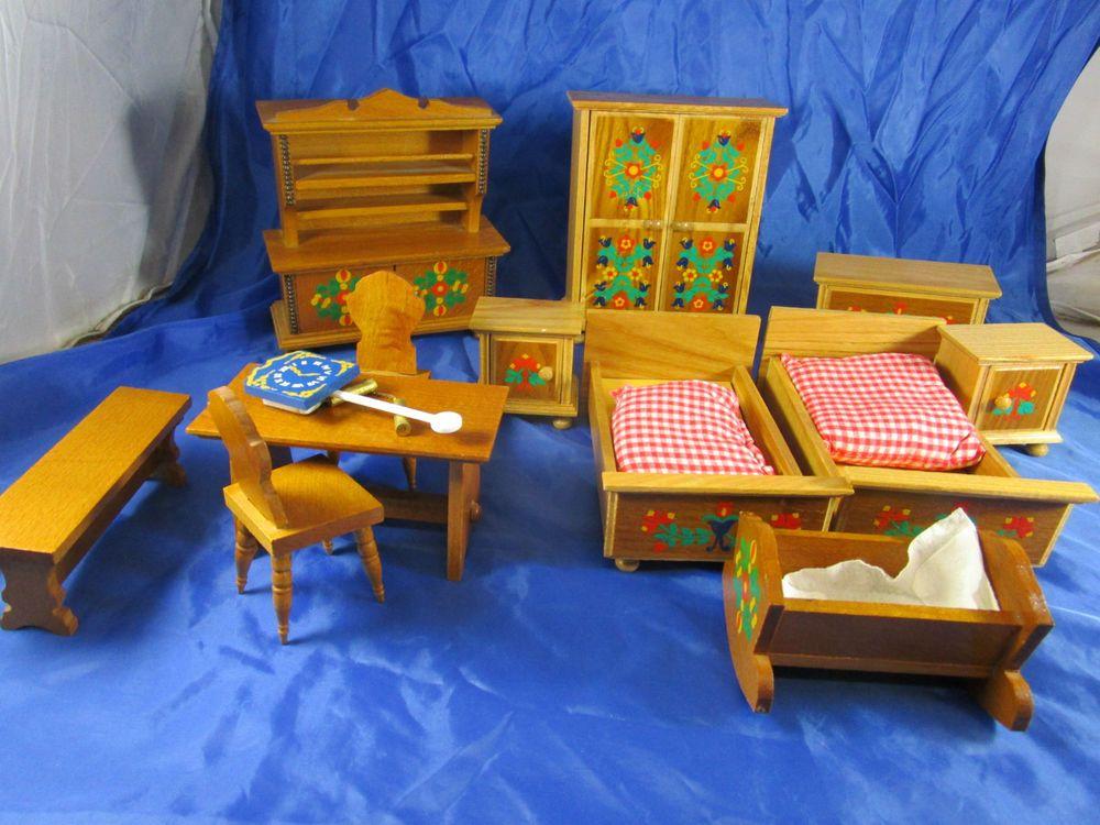 Konvolut Bauern-Möbel Puppen-Möbel Küche Schlafzimmer Uhr - küchen gebraucht günstig