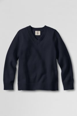 School Uniform: V-neck Sweater in Classic Navy