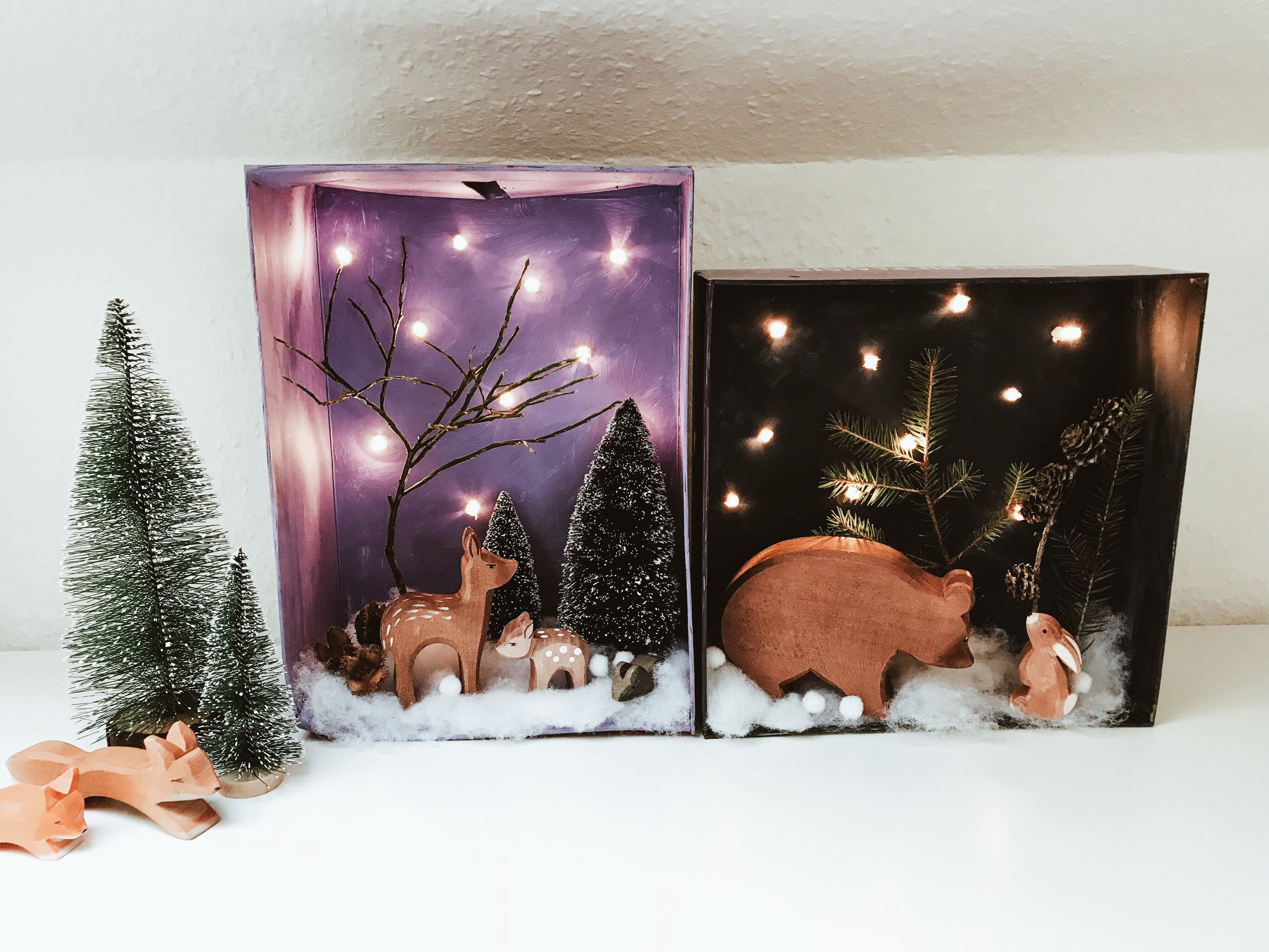 Winter Schuhkarton Basteln Kinder Weihnachten Ostheimer Basteln
