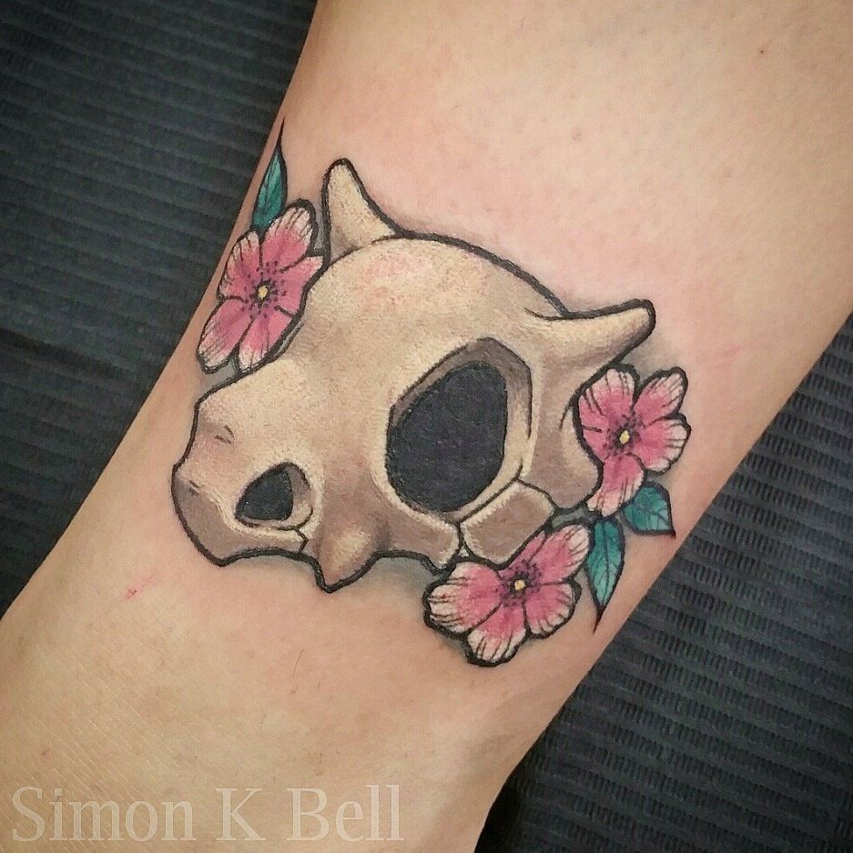 "gamerink: ""Cubone tattoo done by Simon K Bell. """