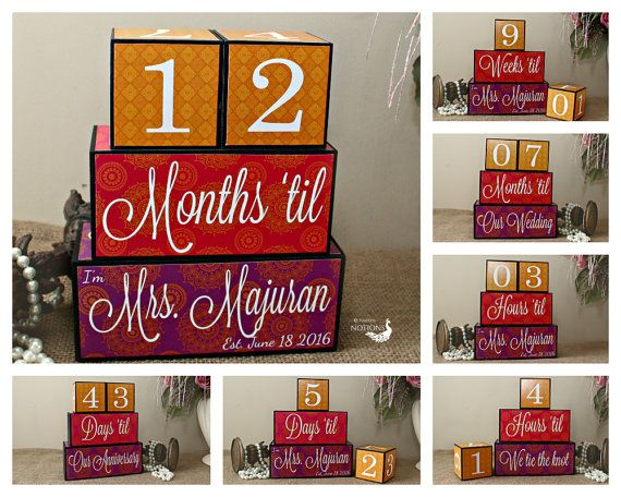 Items similar to Wedding Countdown, Engagement Gift, Days 'til Mr And Mrs, Bridal Shower Gift, Days 'til Our Wedding Sign, Bride To Be Gift, Anniversary Gift on Etsy