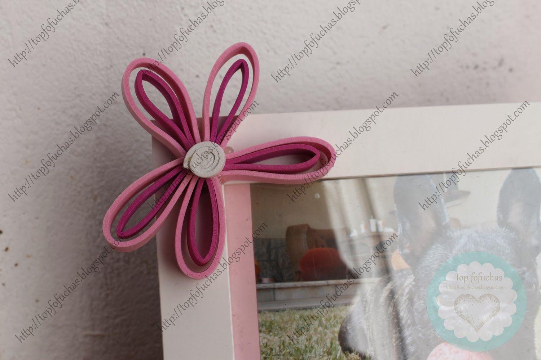 Marco de fotos para mascota, tamaño 18x15 decorado con flores rosas ...