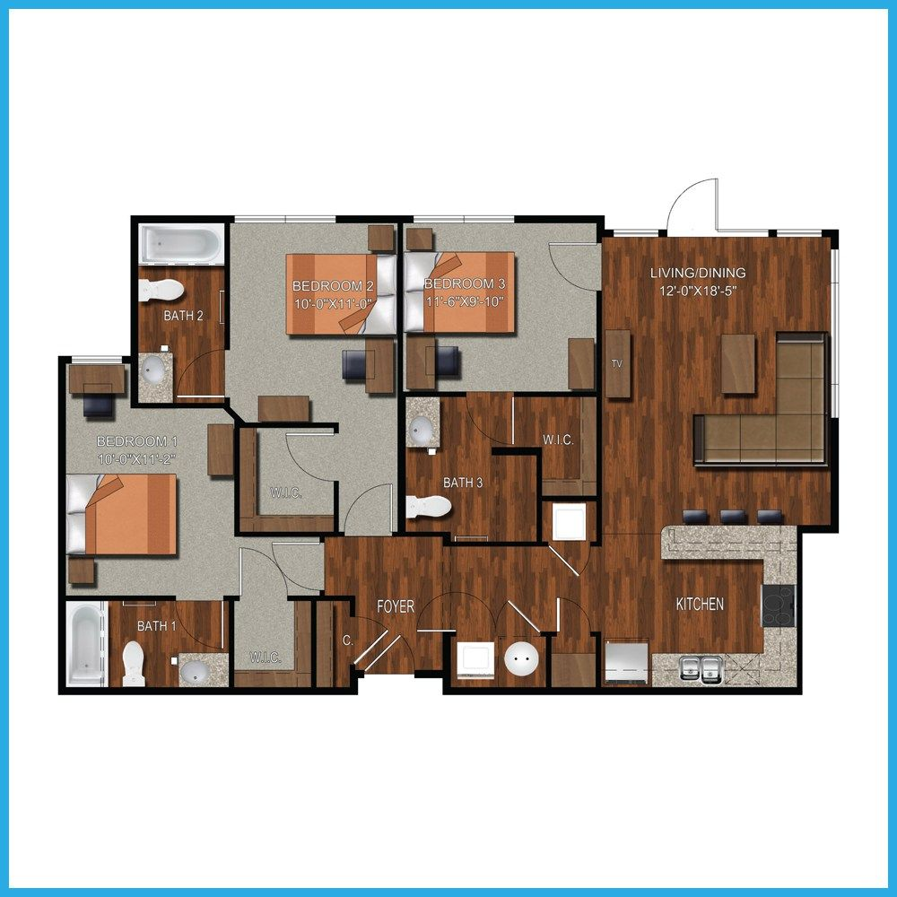 College Station Three Bedroom Apartments : College Station ...