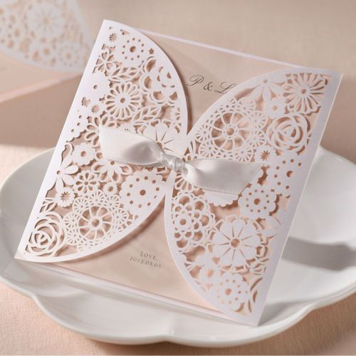 diy making your own vintage lace wedding invitations - How To Make Your Own Wedding Invitations
