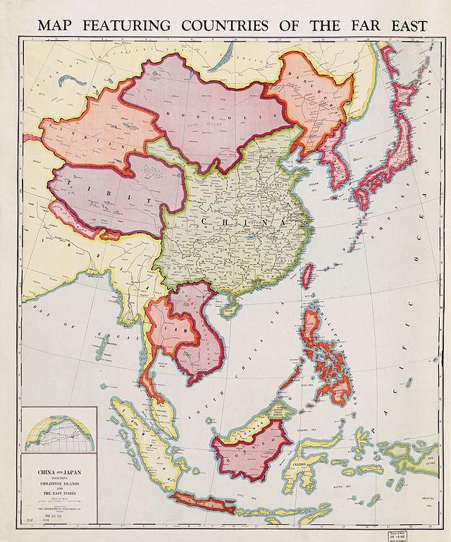 Carte Du Tibet De La Chine Et De La Mongolie En 1932 Cartes