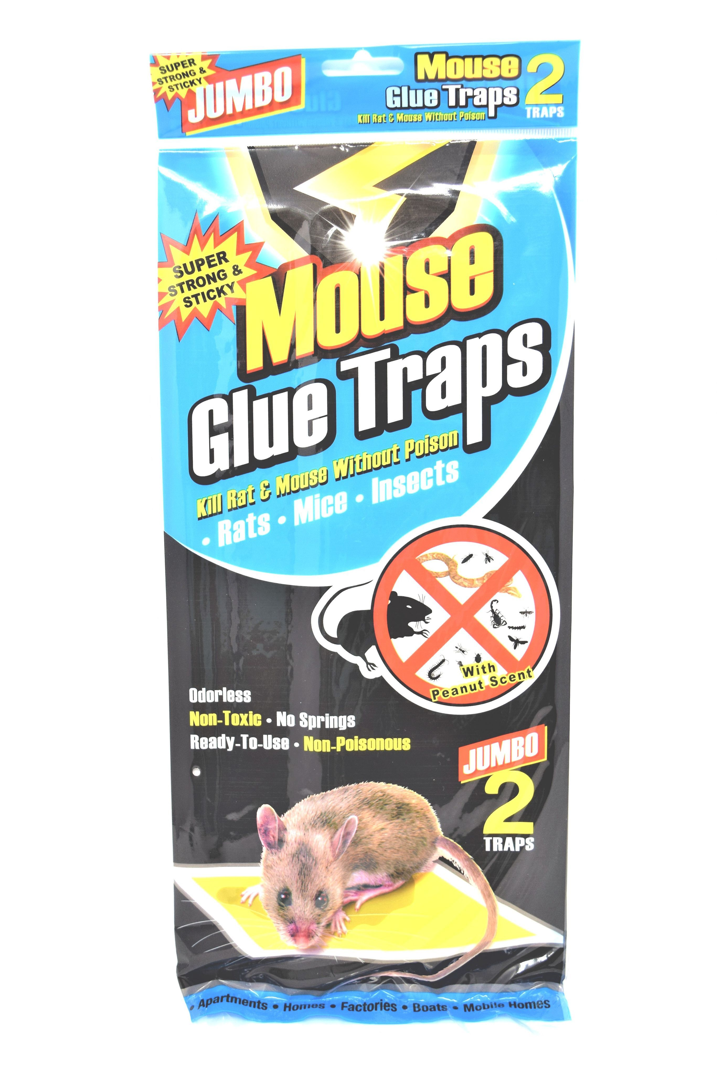 Jumbo Size Mouse Glue Traps, 2 Pack   Products   Pinterest   Mouse ...