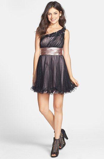 bd60e0aa7b Jump Apparel by Wendye Chaitin One-Shoulder Dress (Juniors ...